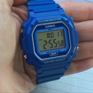 Casio F108WH Blue Resin Men's Digital Watch
